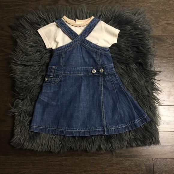 Burberry Baby 2pc Denim Dress 3M